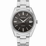 Seiko 40mm Titanium Quartz Watch with Sapphire Crystal and Titanium Bracelet SUR375