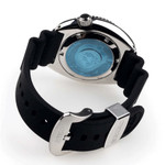 Seiko Turtle Prospex Automatic Dive Watch with Black Dial and Black Silicone Dive Strap #SRPE93