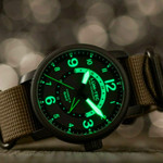 Lum-Tec Combat GMT Dual-Time Watch with a Curved Sapphire Crystal #Combat-B45