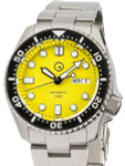 Islander Automatic Dive Watch with Solid-Link Bracelet, AR Sapphire Crystal, and Luminous Ceramic Bezel Insert #ISL-08