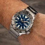 Islander Blue Dial Automatic Dive Watch with AR Double Dome Sapphire Crystal, and 120-click Bezel #ISL-60