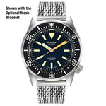Squale Militaire 500 Meter Swiss Automatic Dive Watch with Polished Finish Case #1521-026-MIL-P