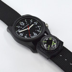 Bertucci DX3 Compass™ Field Watch with Nylon Strap, Black Dial - #11102