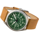 Islander Aviator Automatic Watch with Leather Strap and an Anti-Reflective Sapphire Crystal #ISL-87