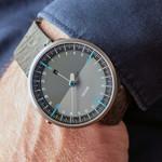 Botta UNO 24 one hand 24-hour Swiss quartz watch with 45mm titanium case #629710