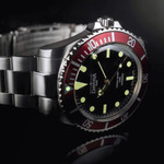 Davosa Ternos Sixties-Style Swiss Automatic Dive Watch with Black Dial #16152560