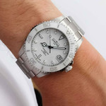 Davosa 36.5mm Medium Ternos Swiss Automatic Dive Watch with White Dial #16619510