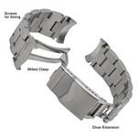 Squale Montauk Stainless Steel Bracelet #MTK-BRAC (Curved End, 20mm)
