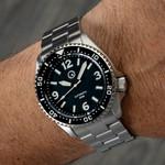 Islander Pilot-Style Dial Automatic Dive Watch with Bracelet, AR Sapphire Crystal, and Luminous Ceramic Bezel Insert #ISL-91
