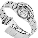 Seiko 5 Sports 24-Jewel Automatic Watch with Textured White Dial and SS Bracelet #SRPG47