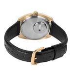 Q Timex Reissue of 1975's 38mm Goldtone Leather Strap Watch #TW2U87800ZV