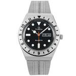 Q Timex Reissue of 1970's 38mm Black Dial, Stainless Steel Bracelet Watch #TW2V00100ZV