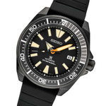 Seiko Samurai Prospex Automatic Dive Watch with Black Ion Plated Case and Rubber Dive Strap #SRPH11