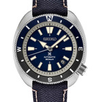 Seiko Prospex Automatic Dive Watch with Blue Dial and Blue Canvas Strap #SRPG15