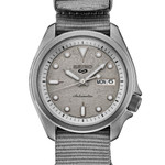 Seiko 5 Sports 24-Jewel Automatic Watch with Grey Distressed Dial and Stone Washed Case #SRPG63