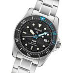 Seiko 38mm Prospex PADI Edition, Solar Dive Watch with Stainless Steel Bracelet #SNE575