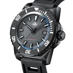 PHOIBOS Leviathan 500-Meter Automatic Dive Watch with Black DLC Case, AR Sapphire Crystal #PY032E