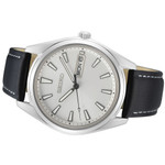 Seiko 40mm Day-Date Quartz Watch with Silver Color Dial SUR447
