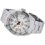 Islander White Waffle Dial Automatic Dive Watch with Flat AR Sapphire Crystal, 120-click Bezel #ISL-90