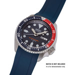 Islander 22mm Blue Rubber Dive Strap for Seiko SKX007,009 and 43mm Islander Divers #BRAC-17