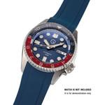 Islander 20mm Blue Rubber Dive Strap for Seiko SKX013 and 38mm Islander Divers #BRAC-19