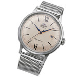 Orient Automatic Dress Watch with Cream Color Dial and Mesh Bracelet #RA-AC0020G10B