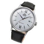 Orient Automatic Dress Watch with White Dial and Leather Strap #RA-AC0022S10B