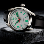 Islander Automatic Watch with Leather Strap and an AR Dome Sapphire Crystal #ISL-84