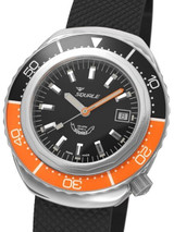 Squale 1000 meter Professional Swiss Automatic Dive watch with Sapphire Crystal #2002BKO-R