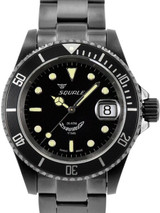 Squale 200 meter Classic Swiss Automatic Dive watch with Sapphire Crystal #1545-C-DLC
