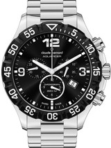 Claude Bernard Aquarider Black Dial Chronograph Dive Watch #10202-3-NIN