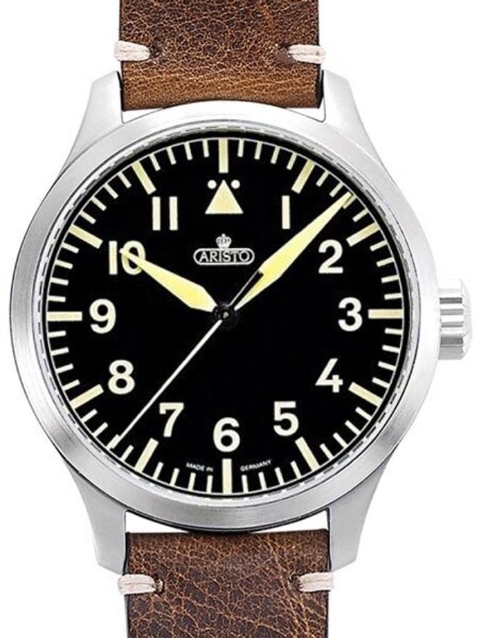 Aristo 47mm Swiss ETA Automatic Vintage Aviator Watch with Sapphire Crystal #7H96