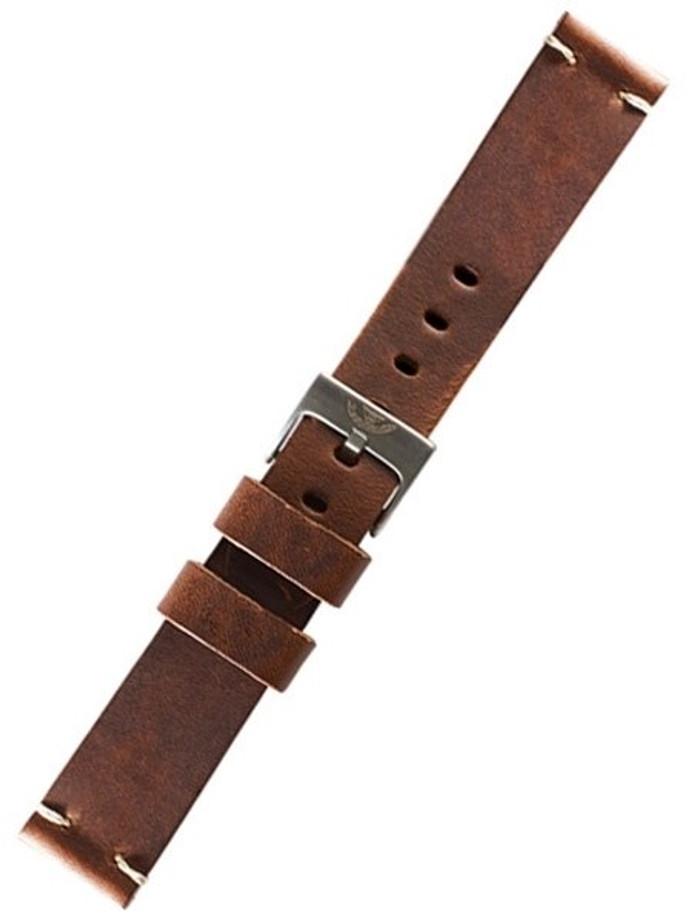 Squale 1521 OEM 20mm Brown Leather Watch Strap #1521-BRN-LTHR