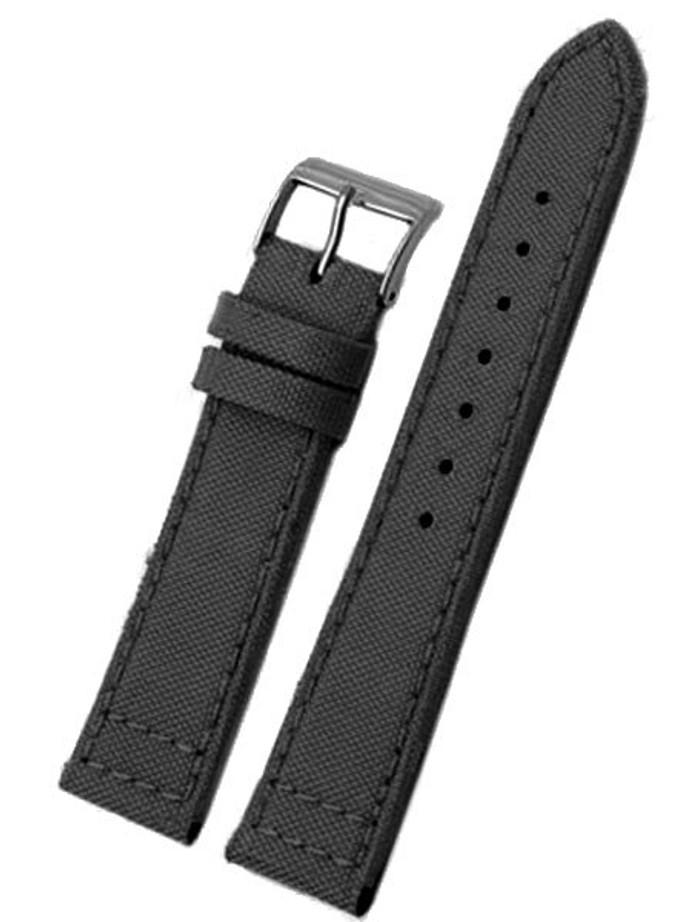 GI JOE Leather/Nylon Black Strap with Matching Stitching #N45-01