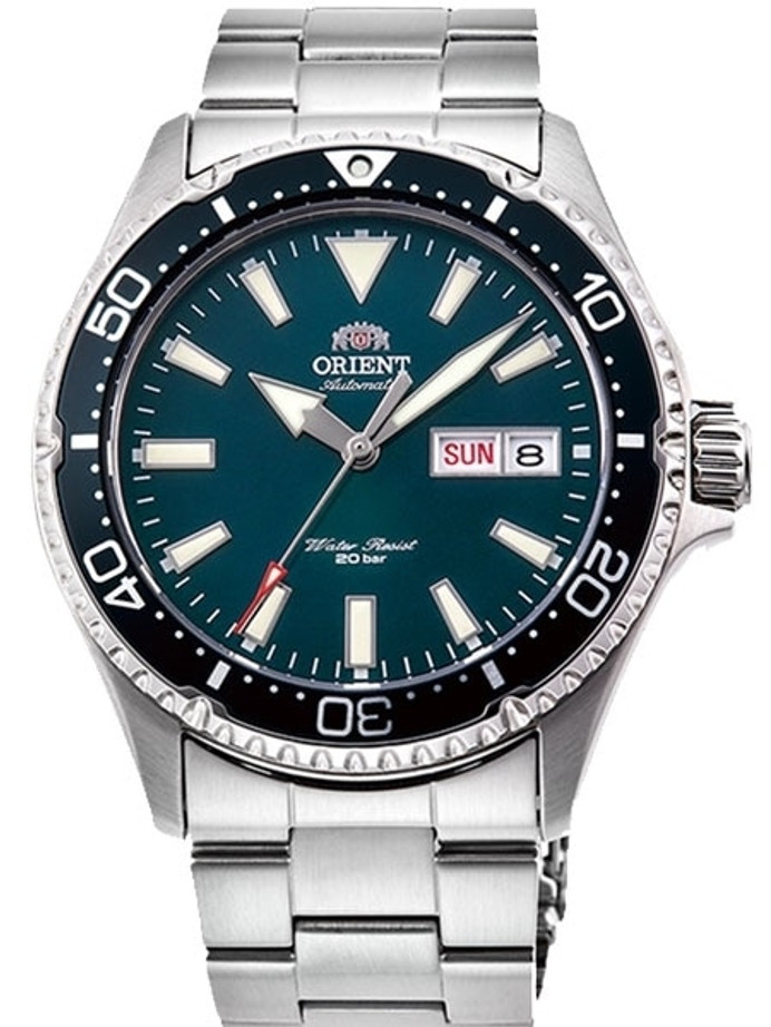 Orient Kamasu Green Dial Automatic Dive Watch with Sapphire Crystal #RA-AA0004E19A