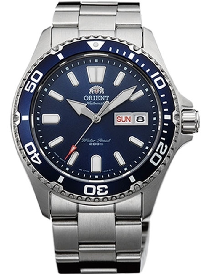 Scratch and Dent - Orient USA II Blue Dial Automatic Dive Watch with Sapphire Crystal #AA0200BD 2