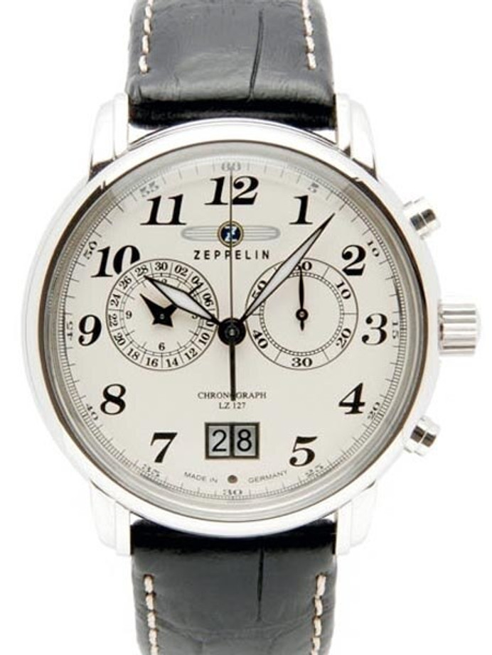 Graf Zeppelin Chronograph, Big Date Watch with 12-hr Totalizer #7684-5