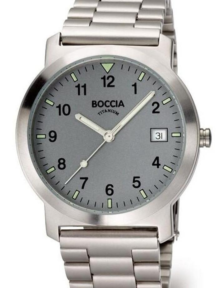 Boccia Thin Mens Quartz Watch with 37mm Titanium Case and Titanium Bracelet #3554-02