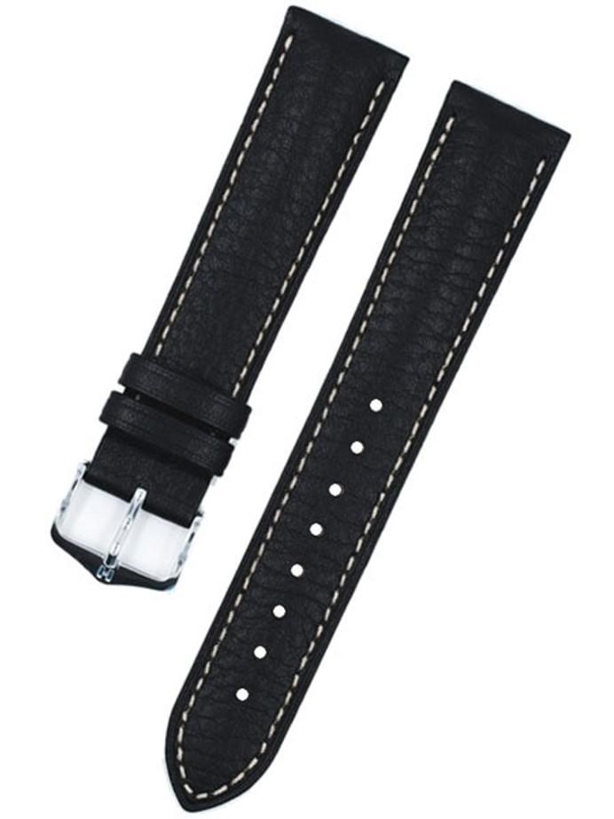 Hirsch Boston Black High Grain Leather Watch Strap #013020-50