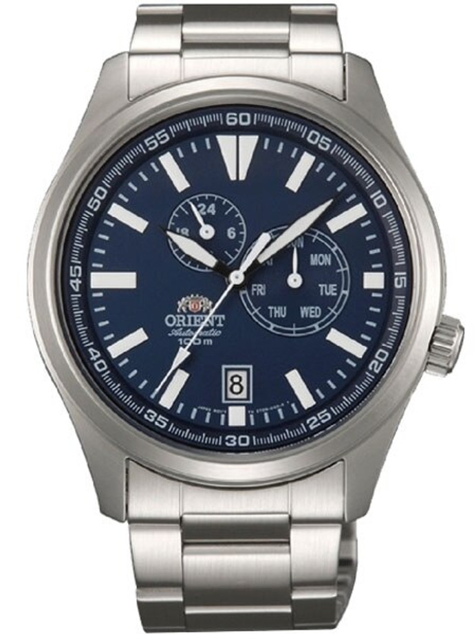 Orient 21-Jewel Automatic Field Watch with 24-Hour Sub-Dial #ET0N001D
