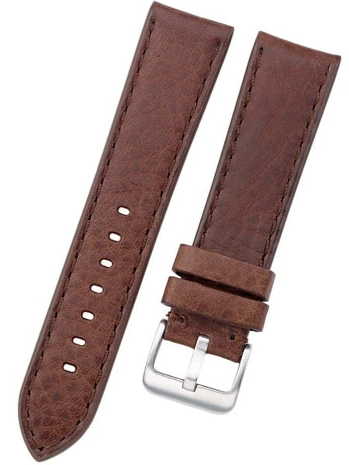Toscana PANERAI Style Brown Italian Leather Strap with Matching Stitching #LBV-98280M