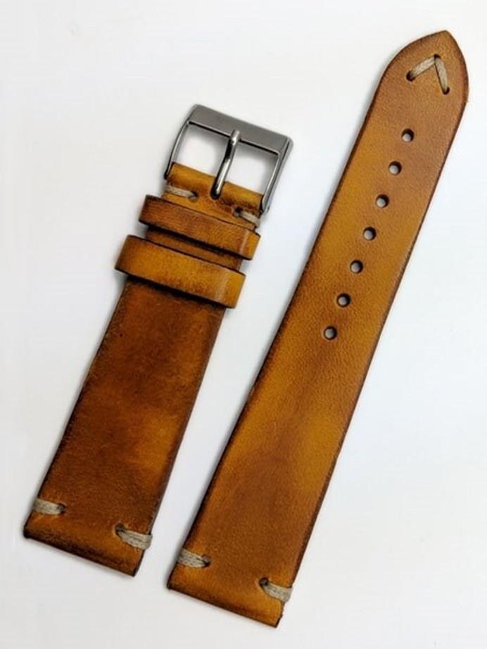 Toscana Vintage Style Napoli Italian Leather Strap with Minimal Stitching #GR-069VI85