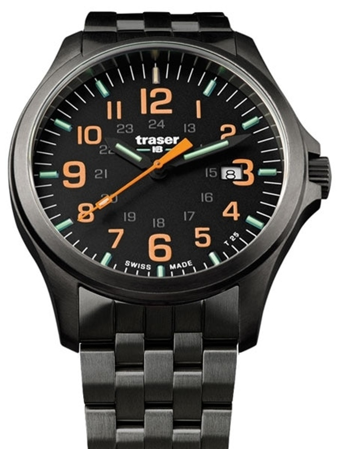 Traser Officer Pro Gun Metal PVD Case Watch with an Anti-Reflective Sapphire Crystal #107870