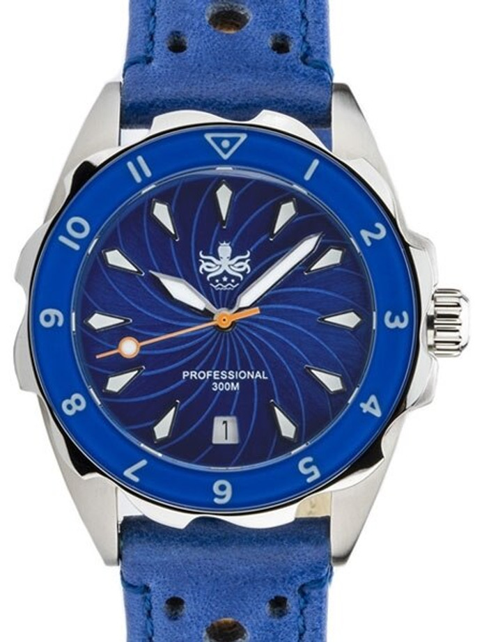PHOIBOS Sea Nymph 300-Meter Swiss Quartz Dive Watch with Double-Dome Sapphire Crystal #PX021B