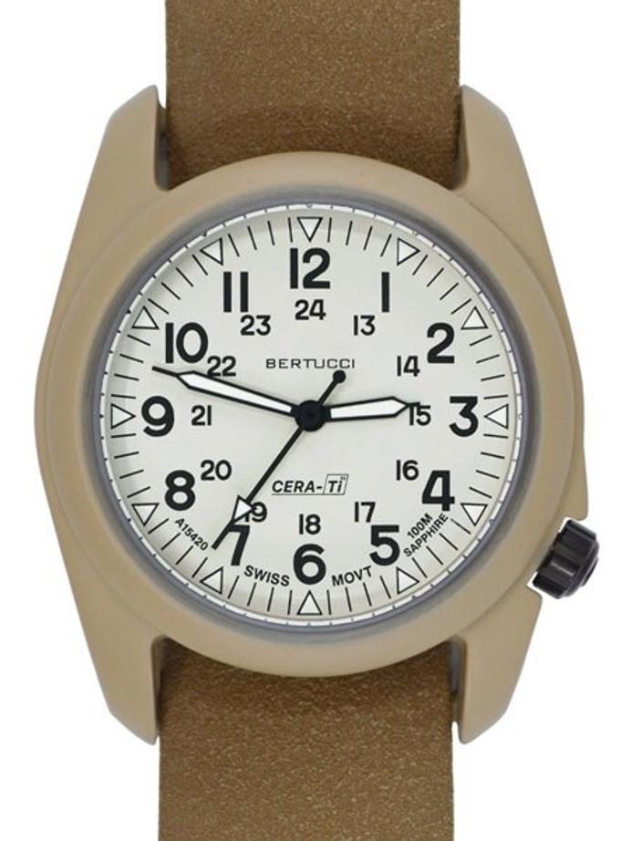 Bertucci A-2CT Cera-Ti™ Ceramic Coated Titanium Field Watch with Swiss Quartz Movement #12139