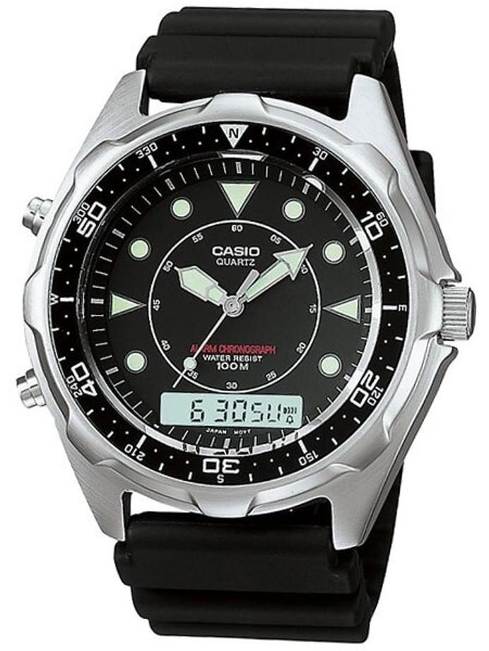 Casio Analog-Digital Dual Time Watch with Alarm and Stopwatch #AMW-320R-1EV