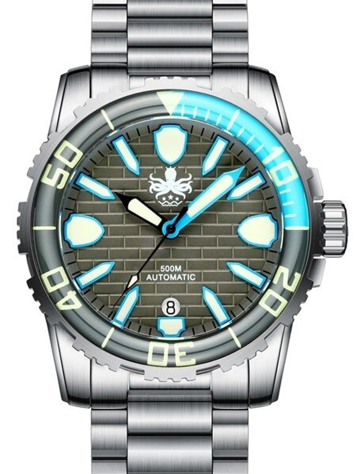 PHOIBOS 500-Meter Great Wall Swiss ETA Automatic Dive Watch with DD AR Sapphire Crystal #PY022E
