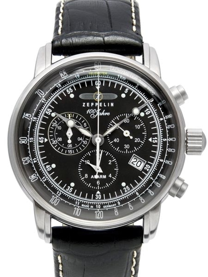 Graf Zeppelin Swiss Quartz Chronograph Watch with Alarm Function #7680-2