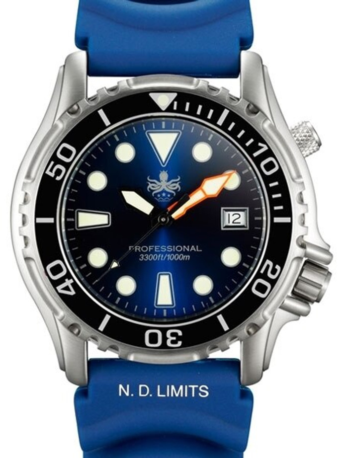 PHOIBOS 1000-Meter Ocean Master Quartz Dive Watch with Sapphire Crystal #PX005B