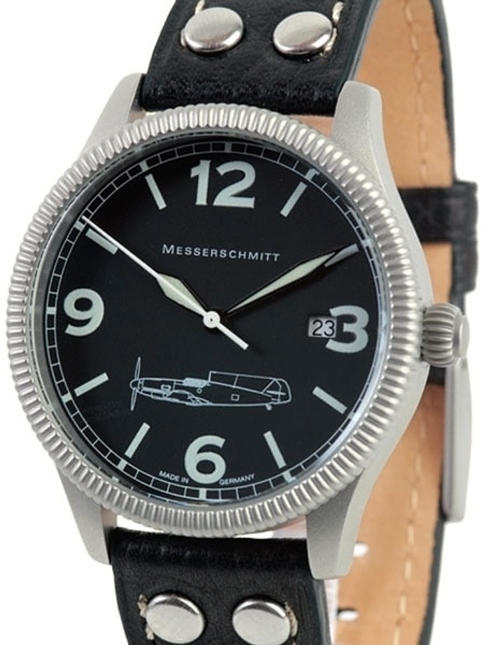 Messerschmitt 40mm Sand Blasted Case with Coin Edge Bezel #ME109-41S